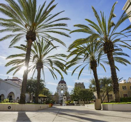pasadena: The beautiful afternoon scene of Pasadena City Hall, Los Angeles, California