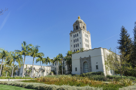 main building of Beverly Hills city hall, Los Angeles, California
