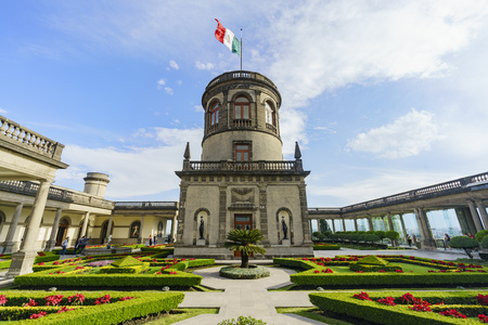 Mexico City, FEB 17: The historical castle - Chapultepec Castle on FEB 17, 2017 at Mexico City