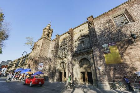 Mexico City, FEB 17: The historical church - Iglesia De La Salud on FEB 17, 2017 at Mexico City