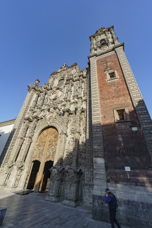 Mexico City, FEB 17: The historical church - Iglesia De La Salud on FEB 17, 2017 at Mexico City