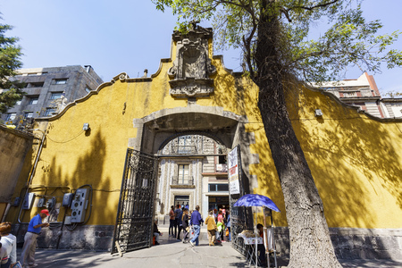 satelite: Mexico City, FEB 19: The historical and beautiful San Felipe de Jesus Satelite on FEB 19, 2017 at Mexico City Editorial