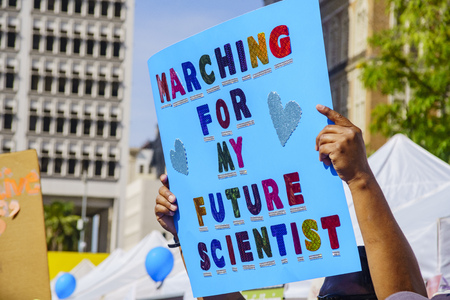 pershing: Los Angeles, APR 22: Special event - March for Science LA on APR 22, 2017 at Los Angeles, California