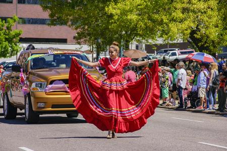 Denver, MAY 8: The famous Cinco de Mayo Parade on MAY 8, 2017 at Denver, Colorado