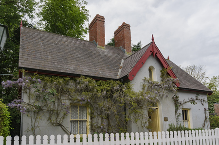The historical Bunratty Castle & Folk Park at County Clare, Ireland Editorial
