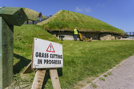 Grass Cutting in the historical Boyne Valley - Bru na Boinne of Ireland, County Meath Editorial