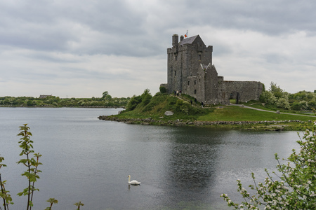 16th century tower house - Dunguaire Castle of Galway Bay in County Galway, Ireland, near Kinvara Editorial