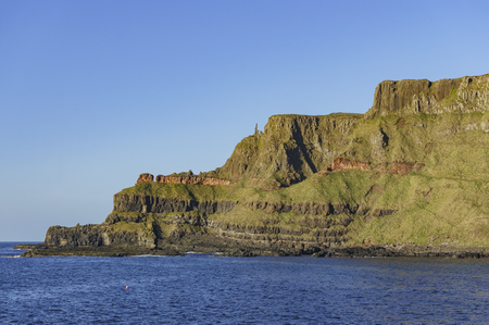 The famous ancient volcanic eruption - Giants Causeway of County Antrim, Northern Ireland Editorial