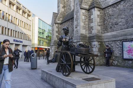 malone: Dublin MAY 2: Molly Malone Statue on MAY 2, 2017 at Dublin, Ireland