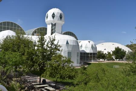desert ecosystem: Exterior view of the Biosphere 2, Arizona, U.S.A.