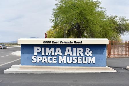 pima: Arizona, APR 9: Entrance of the Pima Air & Space Museum on APR 9, 2017 at Arizona, U.S.A. Editorial