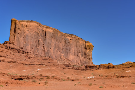 The famous Monument Valley Navajo Tribal Park at Utah, U.S.A. Stock Photo