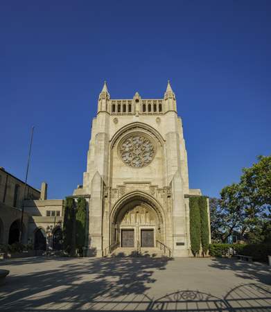 Los Angeles, MAY 28: The historical First Congregational Church of Los Angeles on May 28, 2017 at 540 South Commonwealth Avenue, Los Angeles, California Editorial