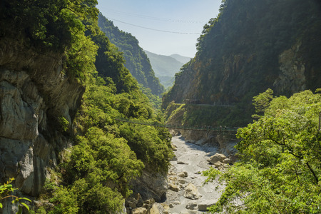 landscape of Swallow Grotto, Taroko National Park, Hualien, Taiwan Stock Photo
