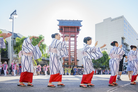 Los Angeles, AUG 27: Superb Nisei Week Festival closing ceremony on AUG 27, 2017 at Little Tokyo, Los Angeles, California, U.S.A. Editorial