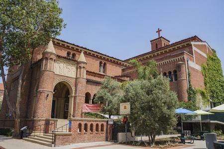 trojans: Los Angeles, JUN 4: United University Church of the University of Southern California on JUN 4, 2017 at Los Angeles Editorial