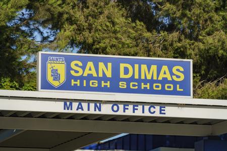 Los Angeles , JUN 25: Entrance of San Dimas High School on JUN 25, 2017 at Los Angeles, California