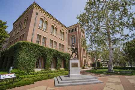 Los Angeles, JUN 4: Tommy Trojan and Bovard Aministration, Auditorium of the University of Southern California on JUN 4, 2017 at Los Angeles Editorial