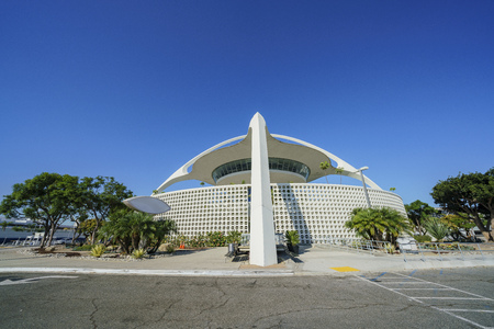 Exterior view of LAX Theme Building on morning at Los Angeles, California, United States 에디토리얼