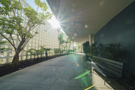 로스 앤젤레스, SEP 24 : 인테리어보기의 LAX 테마 건물 SEP 24, 2017 로스 앤젤레스, 캘리포니아, 미국에서 에디토리얼