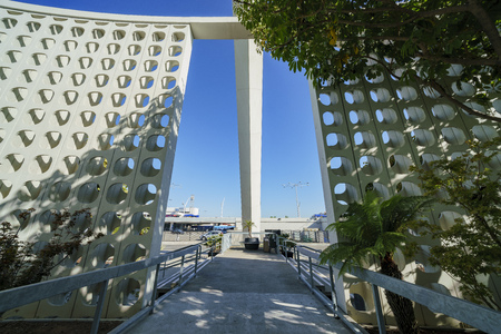 Los Angeles, SEP 24: Interior view of LAX Theme Building on SEP 24, 2017 at Los Angeles, California, United States