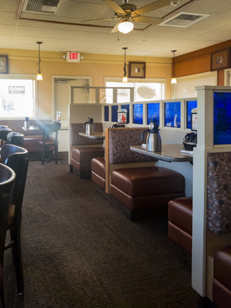 Los Angeles, SEP 23: Interior view of the famous chain restaurant - IHOP on SEP 23, 2017 at Los Angeles, California, United States