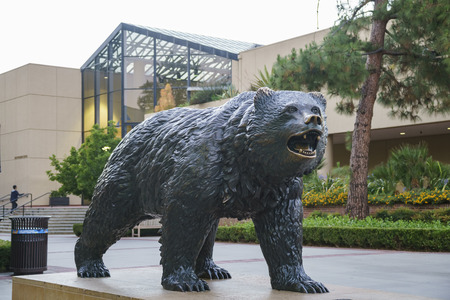 Westwood, JUN 21: UCLA Bruin Statue on JUN 21, 2017 at Westwood, Los Angeles County, California, United States