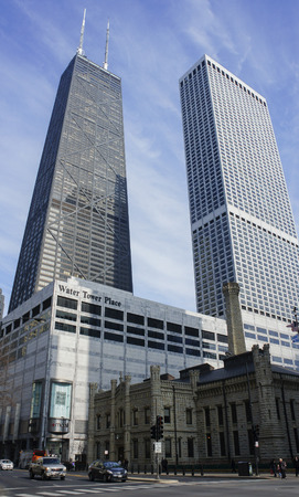 The tall skyscaper - John Hancock Center at Chicago, Illinois, United States