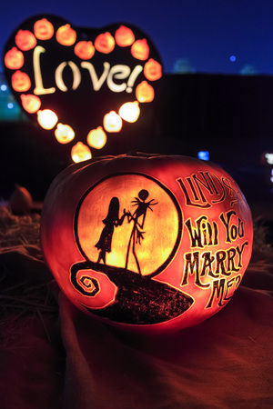 Arcadia, OCT 11: Special Pumpkin craft with light at night on OCT 11, 2015 at Santa Anita Mall, Los Angeles County, California, United States Editorial