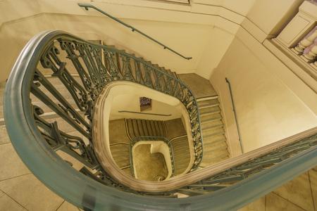 pasadena: The beautiful curve stairs of Pasadena City Hall at Los Angeles County, California, United States Editorial
