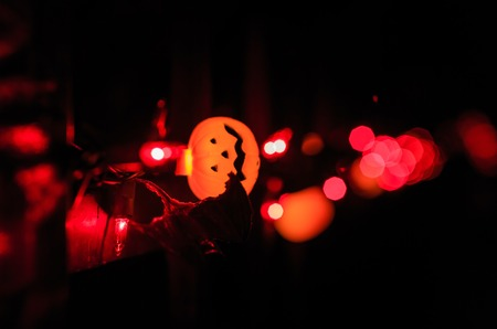 sierra: Sierra Madre, OCT 31: Super Halloween decoration on OCT 31, 2014 at Alegria Avenue, Sierra Madre, Los Angeles County, California, United States Stock Photo
