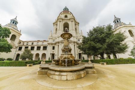 pasadena: Afternoon cloudy view of The beautiful Pasadena City Hall at Los Angeles, California, United States Editorial