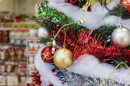 Close up of beautiful christmas decoration in a store at Arcadai, California, United States Stock Photo