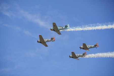 Veterans Day US Army Performance with T-6 Texan in California, United States