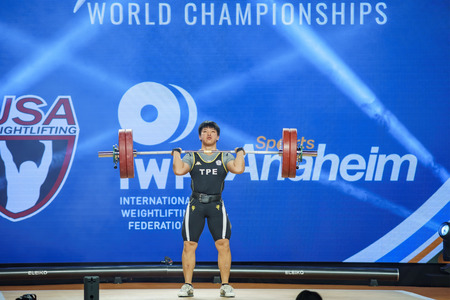 Anaheim, NOV 30: 2017 International Weightlifting Federation World Championships on NOV 30, 2017 at Anaheim Convention Center, Los Angeles County, California, United States