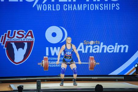 Anaheim, NOV 30: 2017 Rogers Martha Ann in International Weightlifting Federation World Championships on NOV 30, 2017 at Anaheim Convention Center, Los Angeles County, California, United States