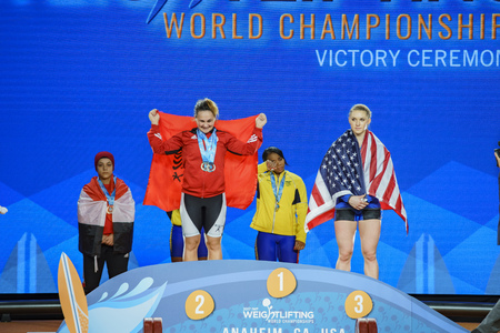 Anaheim, NOV 30: 2017 Rogers Martha Ann in International Weightlifting Federation World Championships on NOV 30, 2017 at Anaheim Convention Center, Los Angeles County, California, United States