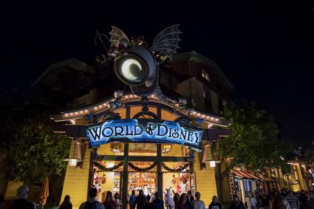 Anaheim, NOV 11: Stores in the famous Downtown Disney District, Disneyland Resort on NOV 11, 2017 at Anaheim, Orange County, California, United States