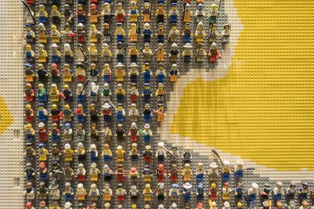 Anaheim, NOV 11: Lego store in the famous Downtown Disney District, Disneyland Resort on NOV 11, 2017 at Anaheim, Orange County, California, United States Editorial
