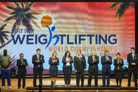 Anaheim, NOV 30: 2017 Judge of International Weightlifting Federation World Championships on NOV 30, 2017 at Anaheim Convention Center, Los Angeles County, California, United States
