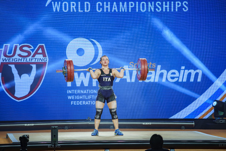 Anaheim, NOV 30: 2017 Bordignon Giorgia International Weightlifting Federation World Championships on NOV 30, 2017 at Anaheim Convention Center, Los Angeles County, California, United States