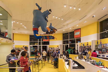 Anaheim, NOV 11: Lego Store In The Famous Downtown Disney District ...