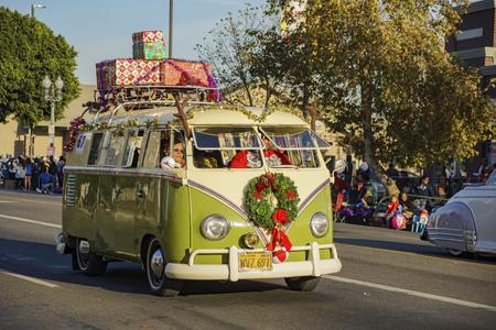Los Angeles, DEC 3: Highland Park christmas parade on DEC 3, 2017 at Los Angeles, United States