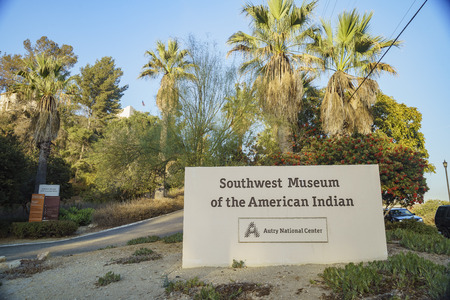 Entrance of Southwest Museum of the American Indian, Los Angeles, California, United States Editorial