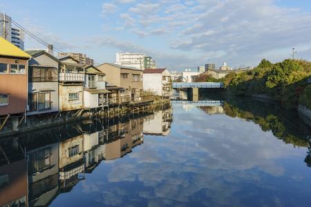 Yokohama, NOV 21: Beautiful cityscape around Kanagawa-Ken on NOV 21, 2017 at Yokohama, Japan