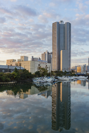 Yokohama, NOV 21: cityscape around Kanagawa-Ken on NOV 21, 2017 at Yokohama, Japan