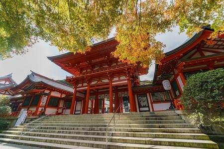 Omi Jingu at Otsu, Shiga prefectures, Japan Stok Fotoğraf - 91572288