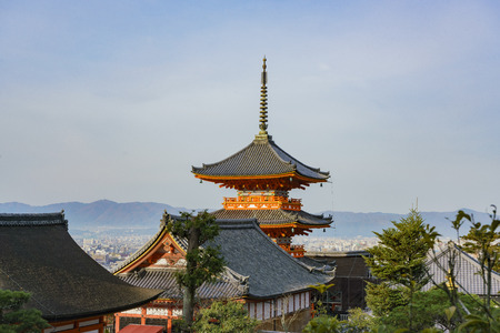 The Pagoda of Otowa-san Kiyomizu-dera at Kyoto, Japan