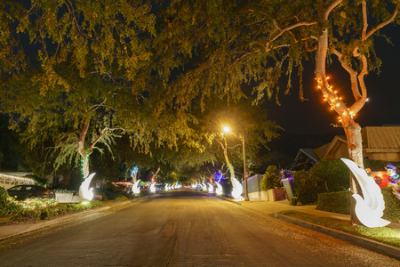 beautiful christmas lights in upper hastings ranch neighborhood at los angeles stock photo 91926194 - Hastings Ranch Christmas Lights