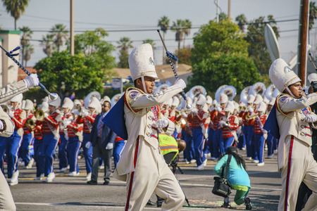 Los Angeles, JAN 15: The famous Kingdom Day Parade on JAN 15, 2018 at Los Angeles, California 版權商用圖片 - 93497684